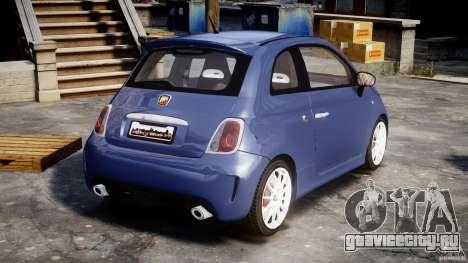 Fiat 500 Abarth SS для GTA 4 вид сбоку