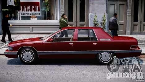 Buick Roadmaster Sedan 1996 v 2.0 для GTA 4 вид сзади слева