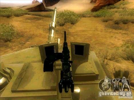M1A2 Abrams из Battlefield 3 для GTA San Andreas вид сверху