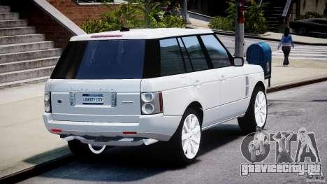 Range Rover Supercharged 2009 v2.0 для GTA 4 вид сбоку