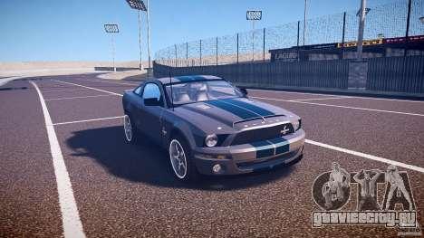 Shelby GT500kr для GTA 4 вид изнутри