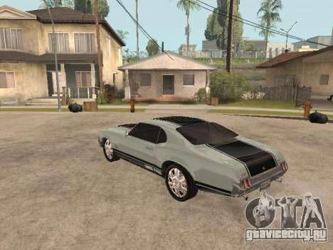 SabreGT из GTA 4 для GTA San Andreas вид сзади слева
