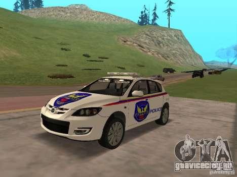 Mazda 3 Police для GTA San Andreas