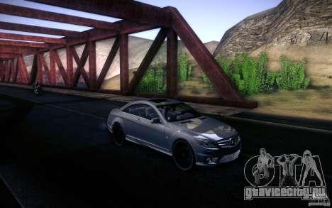 Mercedes Benz CL65 AMG для GTA San Andreas вид изнутри