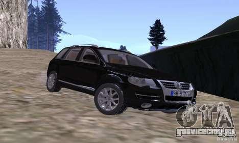 Volkswagen Touareg для GTA San Andreas вид сзади