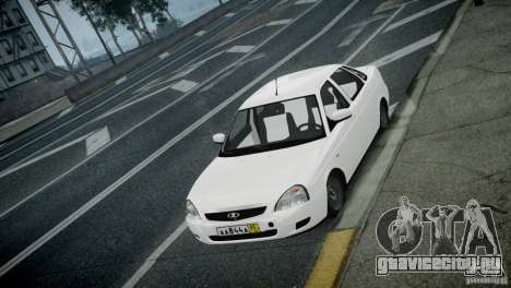 Лада Приора для GTA 4 вид сзади