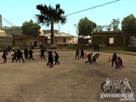 Драка с катанами на Grove Street для GTA San Andreas второй скриншот