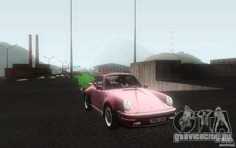 Porsche 911 Turbo 1982 для GTA San Andreas вид изнутри