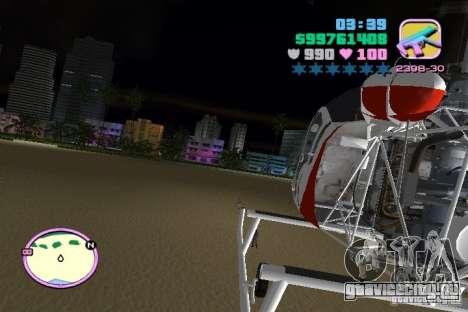 Bell 47 для GTA Vice City вид сбоку