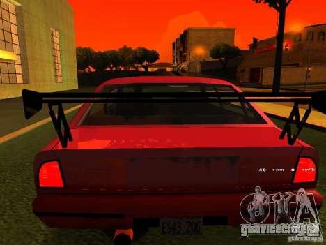 Emperor GT для GTA San Andreas вид сзади