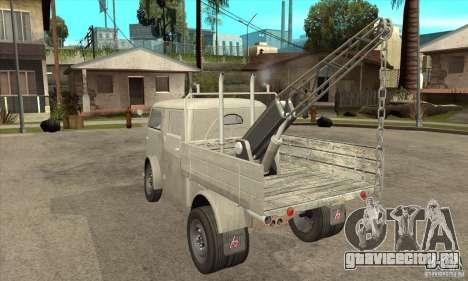 Tempo Matador 1952 Towtruck version 1.0 для GTA San Andreas вид сзади слева