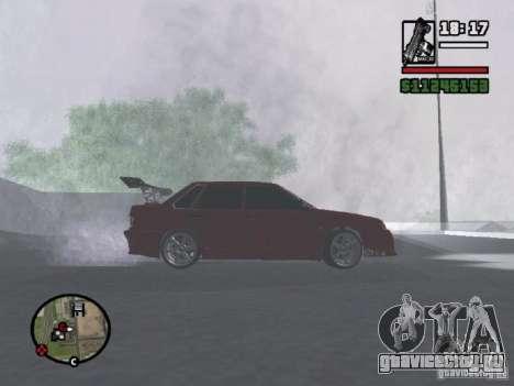 ВАЗ 2115 TUNING для GTA San Andreas вид сзади слева