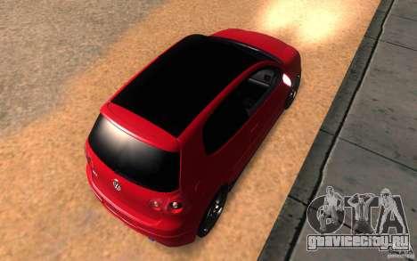 VolksWagen Golf GTI MK5 для GTA San Andreas вид сзади