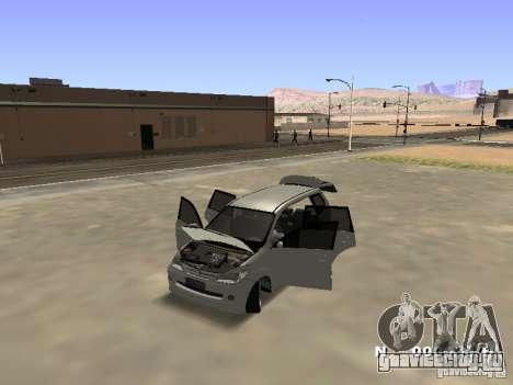 Toyota Avanza Street Edition для GTA San Andreas вид сзади