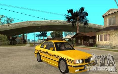 BMW 525tds E34 Taxi для GTA San Andreas вид сзади