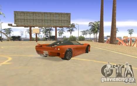Автомобиль Veloche для GTA San Andreas вид справа