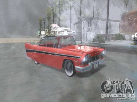 Plymouth Belvedere Sport sedan для GTA San Andreas вид изнутри