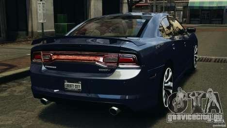 Dodge Charger SRT8 2012 v2.0 для GTA 4 вид сзади слева