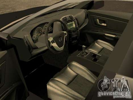 Cadillac CTS для GTA San Andreas вид сзади слева