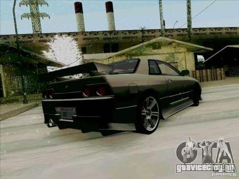 Nissan Skyline GTS-T для GTA San Andreas вид сзади слева