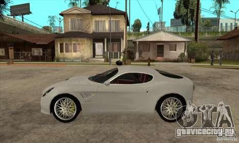 Alfa Romeo 8С Competizione stock для GTA San Andreas вид сзади слева