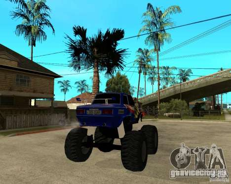 ЗАЗ МОНСТЕР для GTA San Andreas вид сзади слева