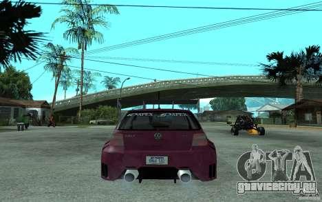 Volkswagen Golf GTI 4 Tuning для GTA San Andreas вид сзади слева