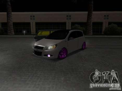 Chevrolet Aveo Tuning для GTA San Andreas вид справа