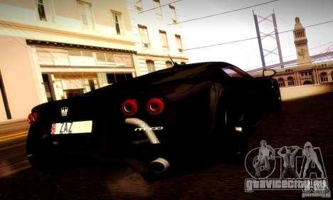 Noble M600 Final для GTA San Andreas вид сзади