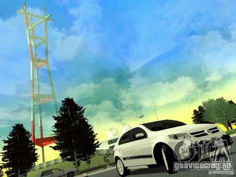 Volkswagen Gol Rallye 2012 для GTA San Andreas вид сзади слева