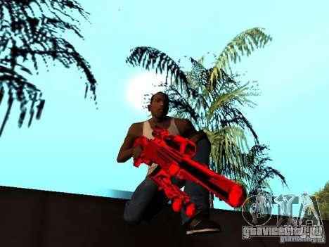 Red Chrome Weapon Pack для GTA San Andreas двенадцатый скриншот