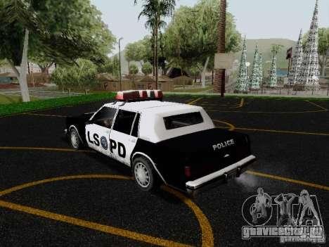 Greenwood Police LS для GTA San Andreas вид сзади слева