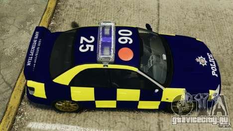 Subaru Impreza British ANPR [ELS] для GTA 4 вид справа