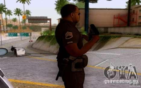 Полицейский из CoD: BO2 для GTA San Andreas третий скриншот