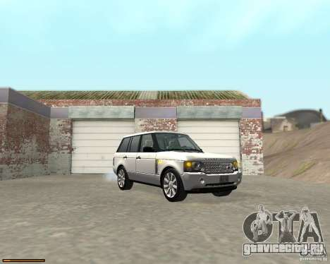 Land Rover Range Rover Supercharged 2008 для GTA San Andreas вид сзади