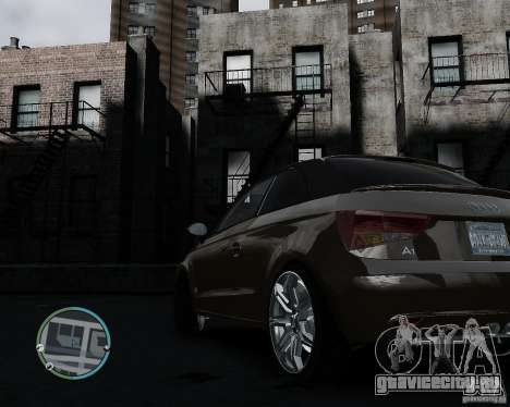 Audi A1 v.2.0 для GTA 4 вид сзади