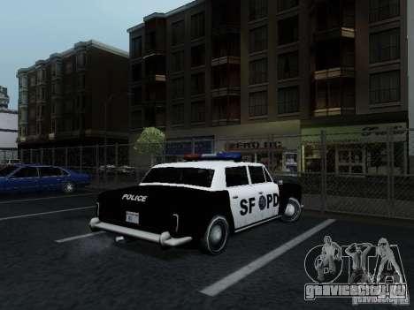 Stafford Police SF для GTA San Andreas вид сзади слева
