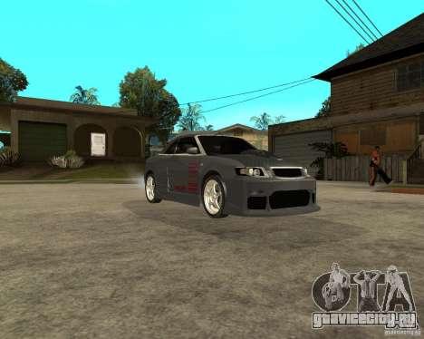 AUDI A4 Cabriolet для GTA San Andreas вид сзади