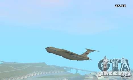 Ильюшин Ил-76 МД для GTA San Andreas вид сзади слева
