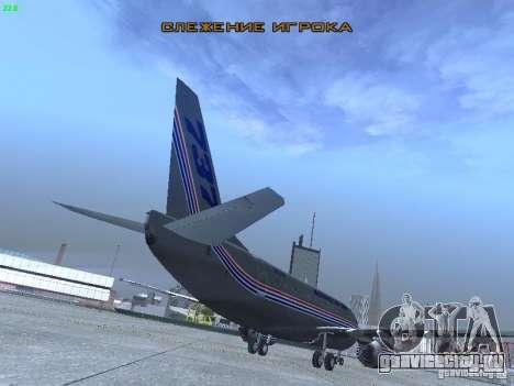 Boeing 737-500 для GTA San Andreas вид сзади