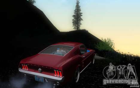 Ford Mustang 1967 American tuning для GTA San Andreas вид справа