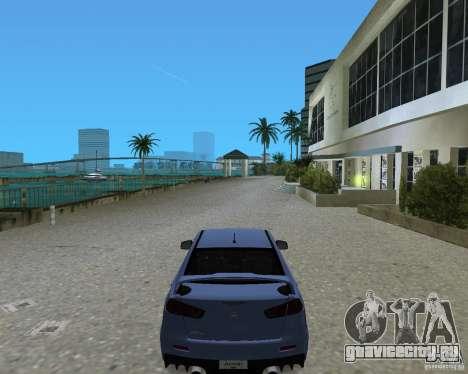 Mitsubishi Lancer Evo X для GTA Vice City вид сзади слева
