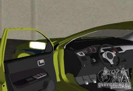 Mitsubishi Lancer Evolution VII для GTA Vice City вид сзади