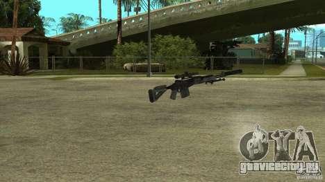 MK14 EBR с глушителем для GTA San Andreas второй скриншот