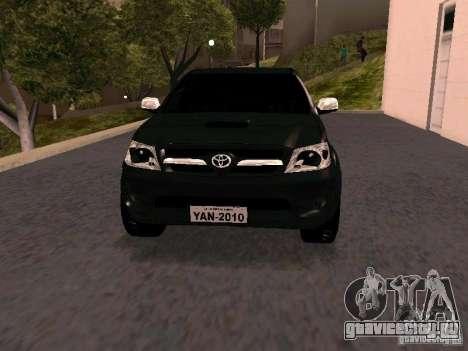 Toyota Hilux SRV 3.0 4X4 Automatica для GTA San Andreas вид сзади