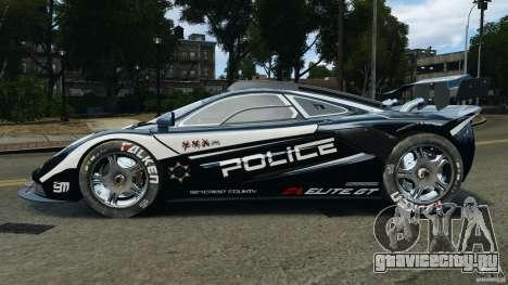 McLaren F1 ELITE Police [ELS] для GTA 4 вид слева