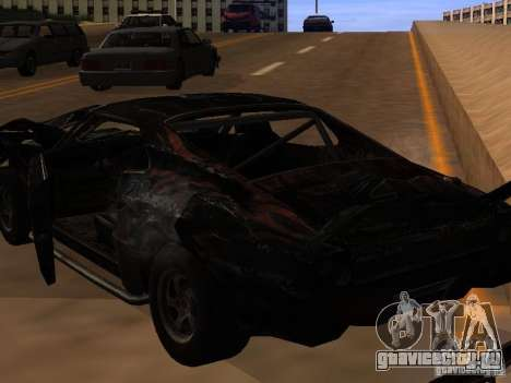 Car from FlatOut 2 для GTA San Andreas вид изнутри