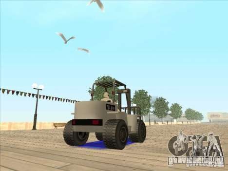 Forklift extreem v2 для GTA San Andreas вид изнутри