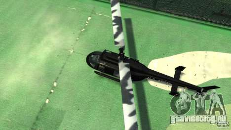 Black U.S. ARMY Helicopter v0.2 для GTA 4 вид изнутри