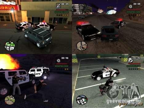 GTA San Andreas SAPD POLICE PACK для GTA San Andreas вид слева